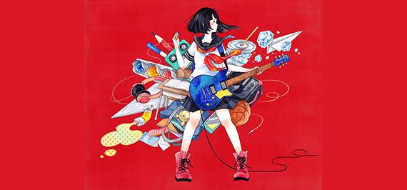 黒髪ギター少女選手権